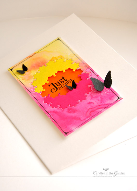 CASE Study Challenge 150. Layered die-cutting and punched butterflies.
