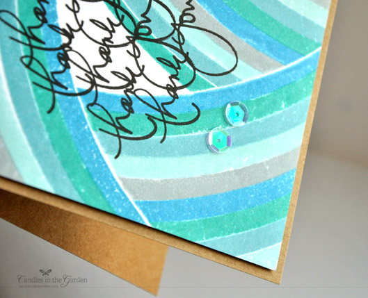Case Study Challenge 152. Distress Ink stripes (@Wplus9 Country Charm) and a @TTStamps stamp.