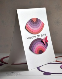 Moxie Fab World Tuesday Trigger: Honoring Ombre. @Spellbinders Circle Dies and Coloured paper. ©Candles in the Garden