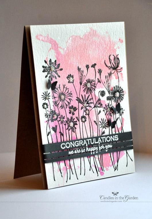©Candles in the Garden. Runway Inspired Challenge 48 - Antonio Marras. Acrylic block stamping.