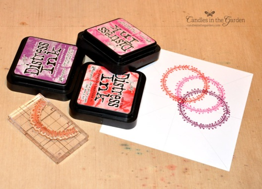 ©Candles in the Garden. Neat & Tangled DT Post. Repeat stamping with Simple Christmas stamp set.