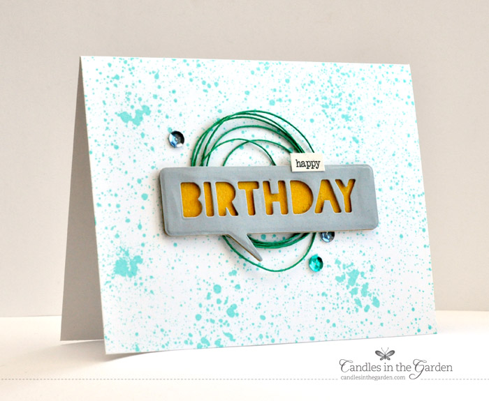 ©Candles in the Garden. RIC60 - Impression Obsession background stamp and dies from LittleB and Paper Smooches.