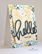 ©Candles in the Garden. RIC65. Pattern paper, Altenew Stamps and Big Hello die-cut.