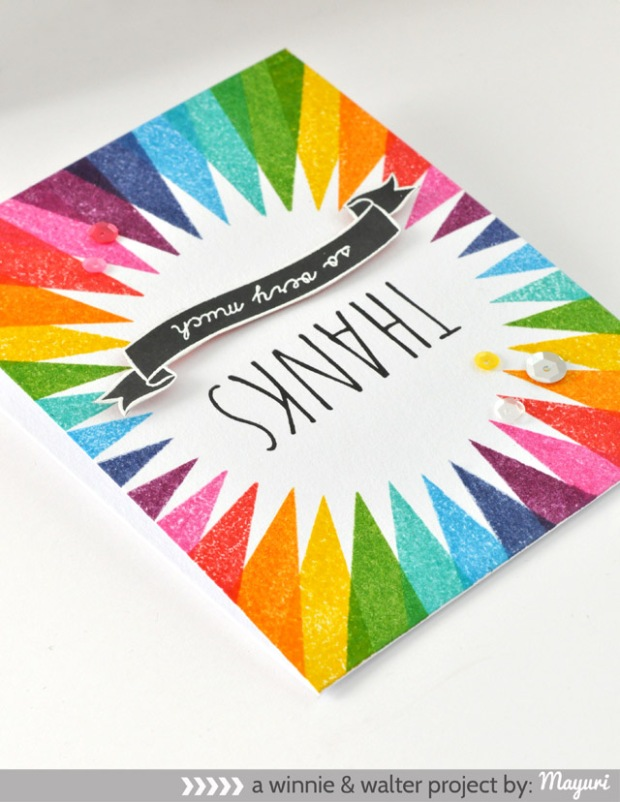 ©Candles in the Garden. Winnie and Walter Share the Love Week - Simon Says Stamp and Rainbow Colour Palette - Day 1.