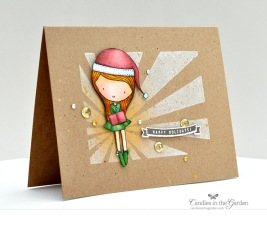 ©Candles in the Garden. Neat and Tangled OCT14 Release - Day 2. Little Santa GIrl.