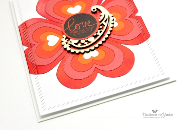 ©Candles in the Garden. RIC78 - Inlaid die-cutting with CAS-ual Fridays Heartboard Fri-Dies.