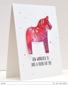 ©Candles in the Garden. Neat and Tangled MAR15 Release - Day 2. Dala Horse.