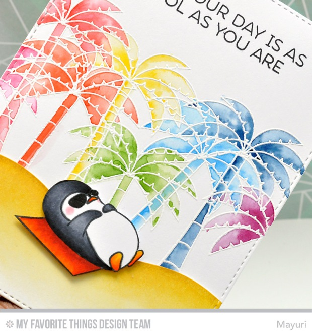 ©Candles in the Garden. MFT June Release Countdown Day 4. Penguins in Paradise
