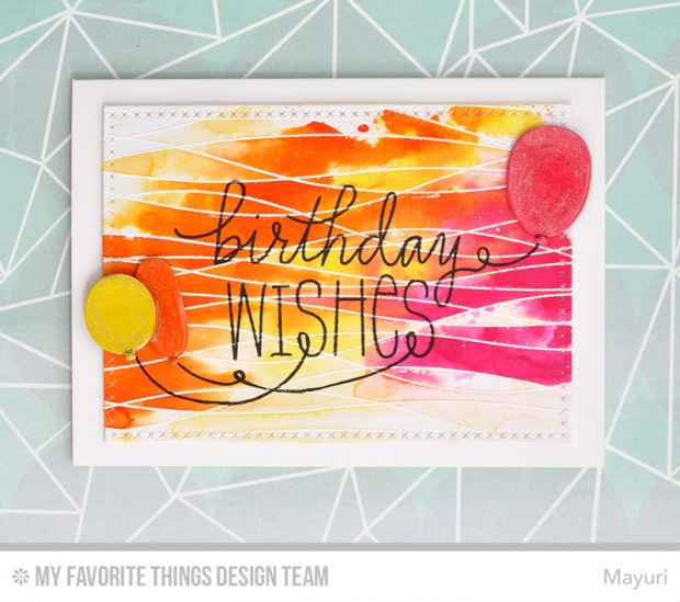 ©Candles in the Garden. MFT July Release New Product Launch. Birthday Wishes and Balloons.