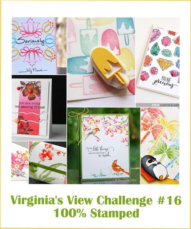 Virginia's View Challenge 16. 100% Stamped.