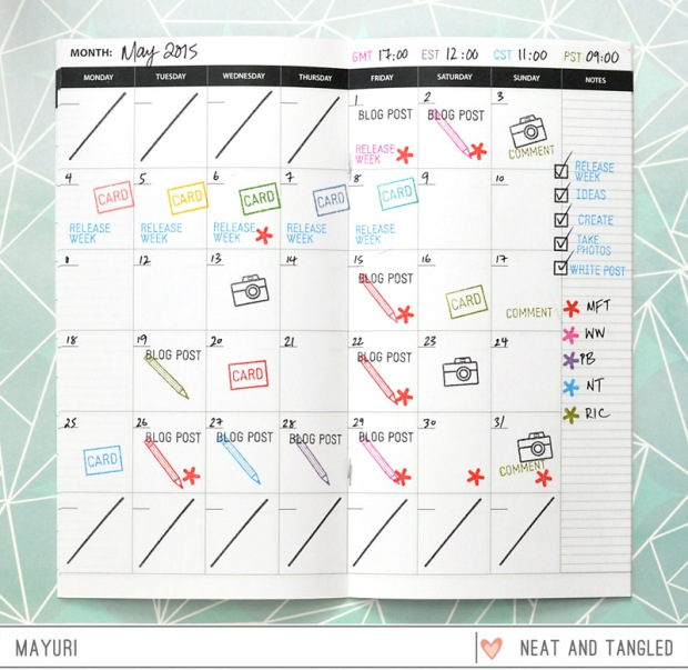 ©Candles in the Garden. Neat and Tangled JULY15 Release - Day 3, Blog Planner