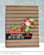 ©Candles in the Garden. MFT October Release Countdown Day 4. Santa's Elves stamp set.