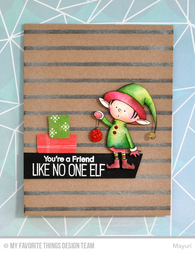 ©Candles in the Garden. MFT October Release Countdown Day 4. Santa's Elves stamp set.