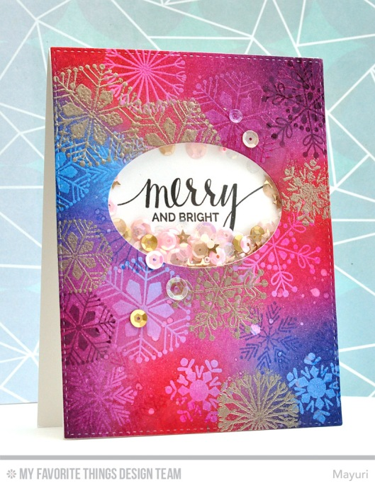 ©Candles in the Garden. MFT October Release Countdown Day 1. Snowflake Flurry stamp set.