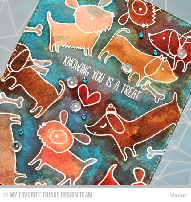 ©Candles in the Garden. MFT November Release - Card 2. Top Dog Stamp Set.