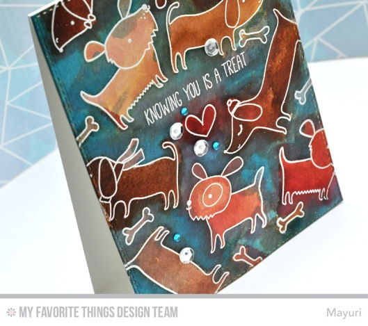 ©Candles in the Garden. MFT November Release - Card 2. Top Dog Stamp Set.