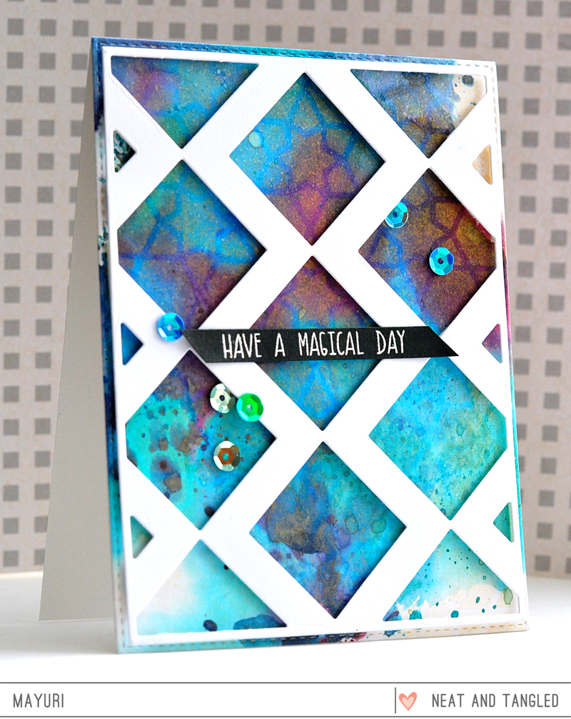 ©Candles in the Garden. Neat and Tangled April 2018 Release. Inlaid Squares Cover Plate